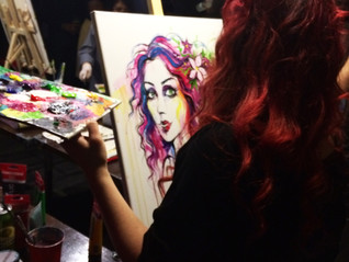 Live Painting at &Co Resto Bar 2016