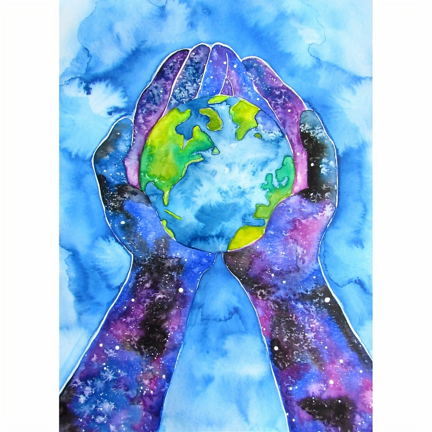 Caring for the Earth Watercolour - Space Week
