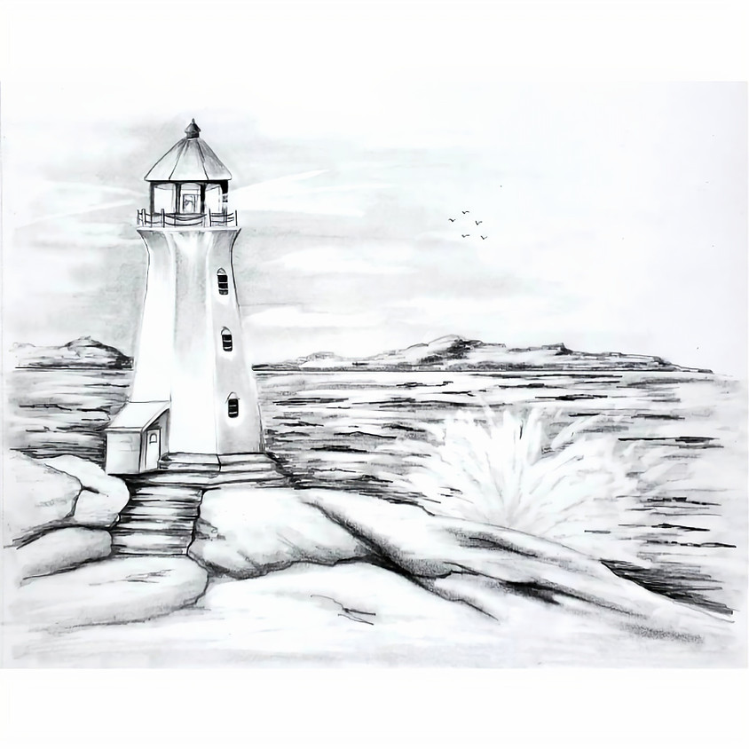 Lighthouse - HB Pencil Drawing