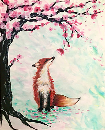 Fox Under the Cherry Blossoms - Video Recording