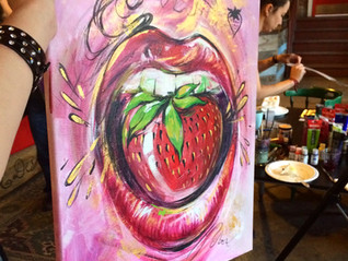 Live Painting at #IdeasInFood event by eatwell.ca