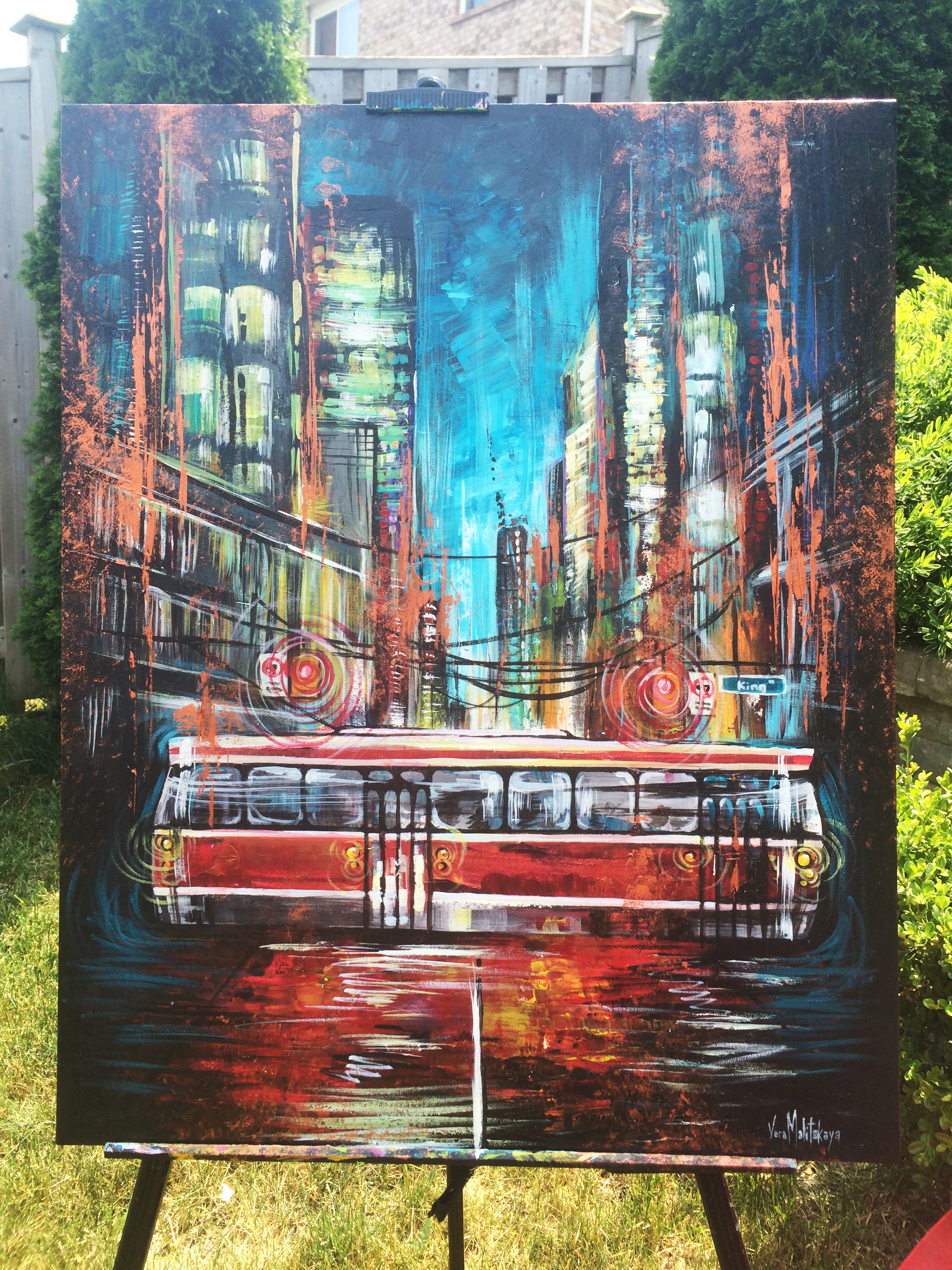Streetcar commission painting