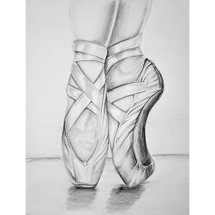 Beauty in Ballet HB Pencil Drawing - Video Recording