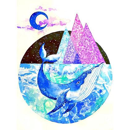 Whimsical Whale - Watercolour - Video Recording