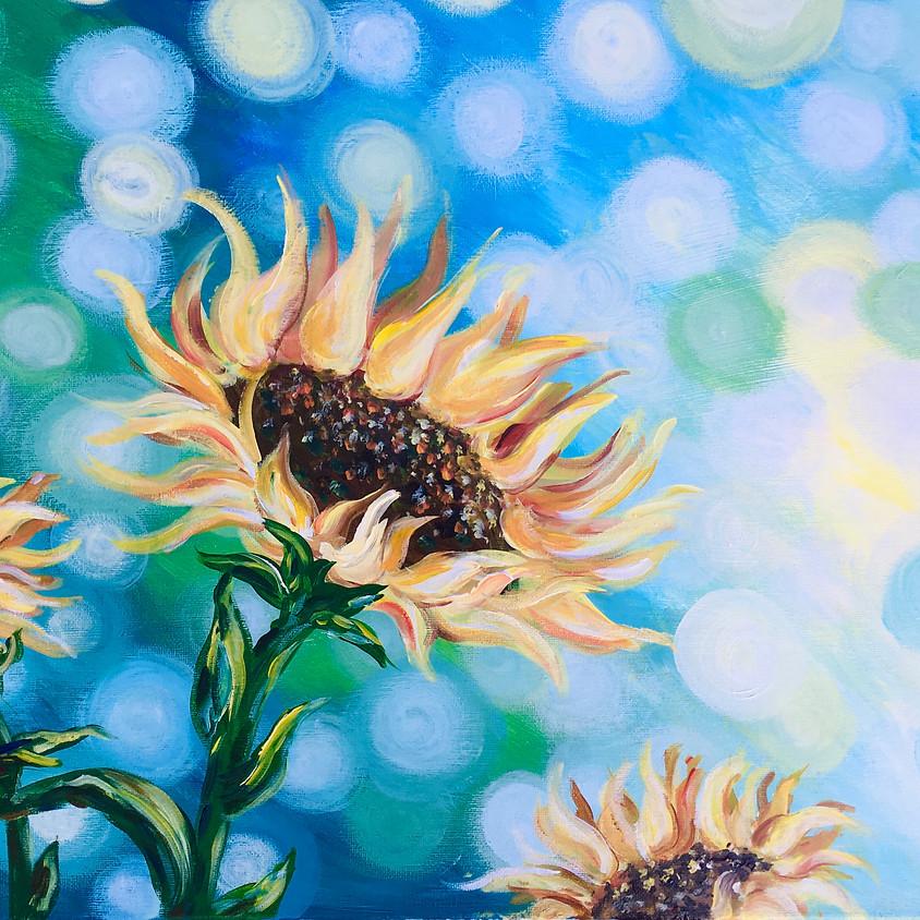 Bokeh Sunflowers