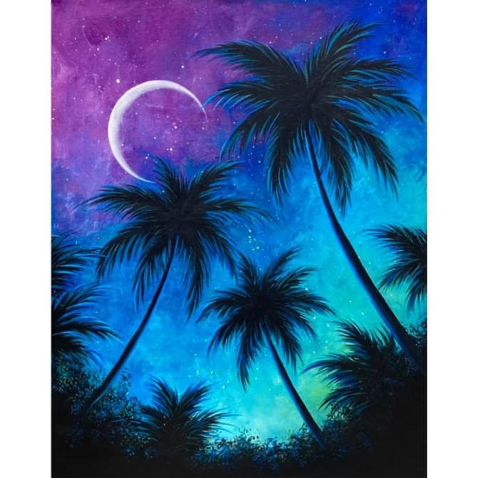 Midnight Palm Trees
