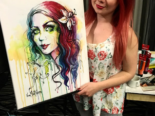 Live Painting at The Girls Nite For Autism