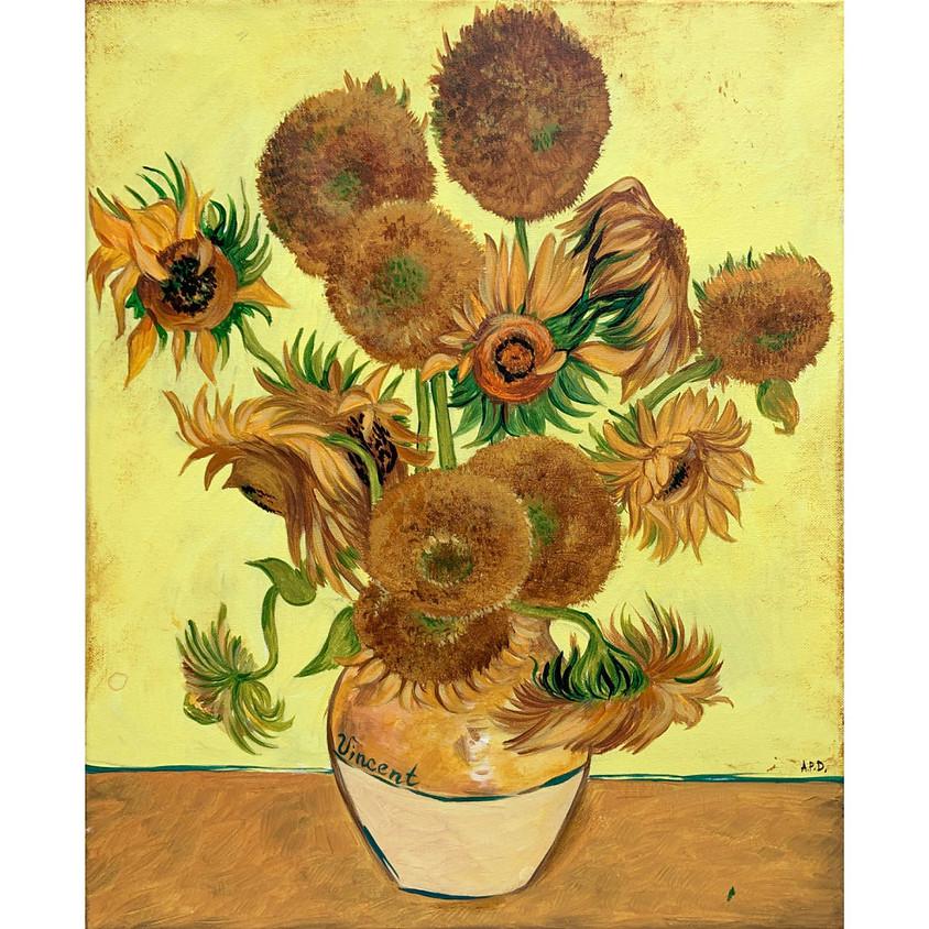 2 day event - Recreate a Masterpiece - Van Gogh's Sunflowers