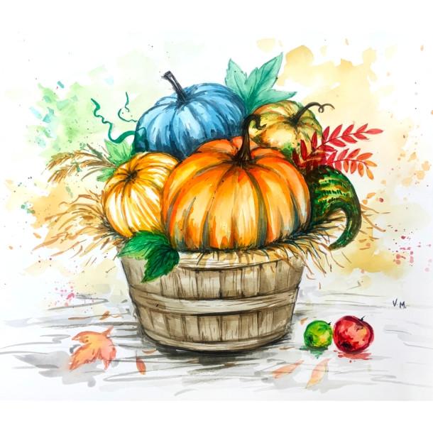 Fall's Bounty - Watercolour