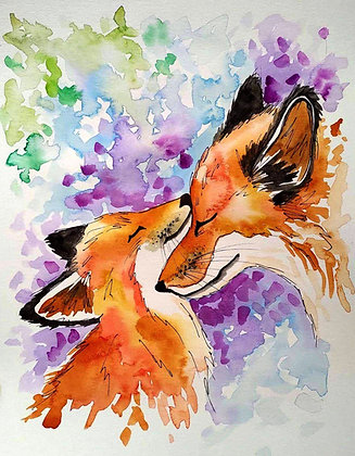 Motherly Love Watercolour Painting - Video Recording