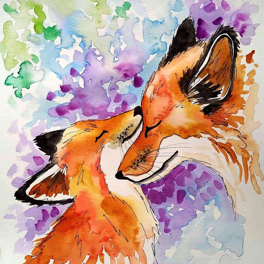 Motherly Love - Watercolor Painting