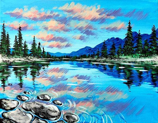 Serene Lake Landscape - Video Recording