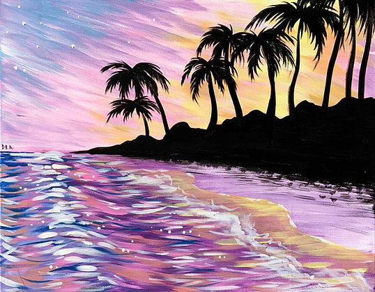 Pastel Beach Sunset - Video Recording