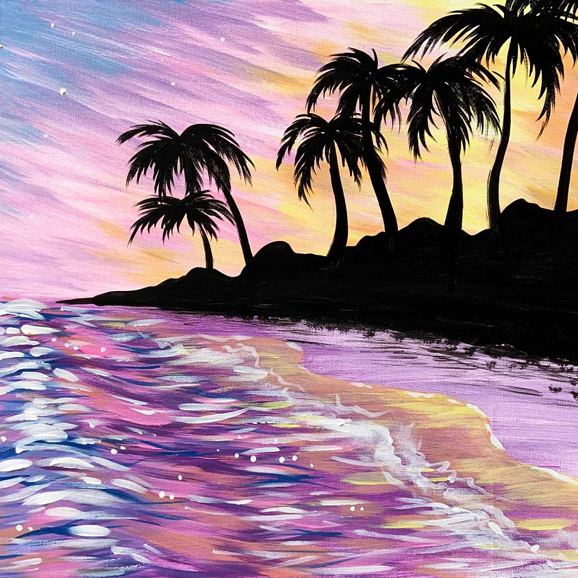 Pastel Beach Sunset