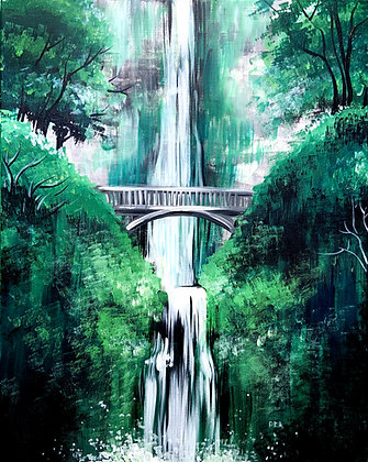 Bridge Across the Waterfall - Video Recording