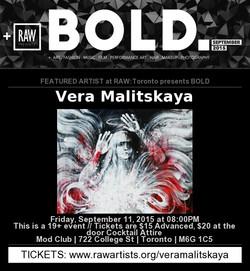 RAW Toronto : BOLD . Vera Malitskaya
