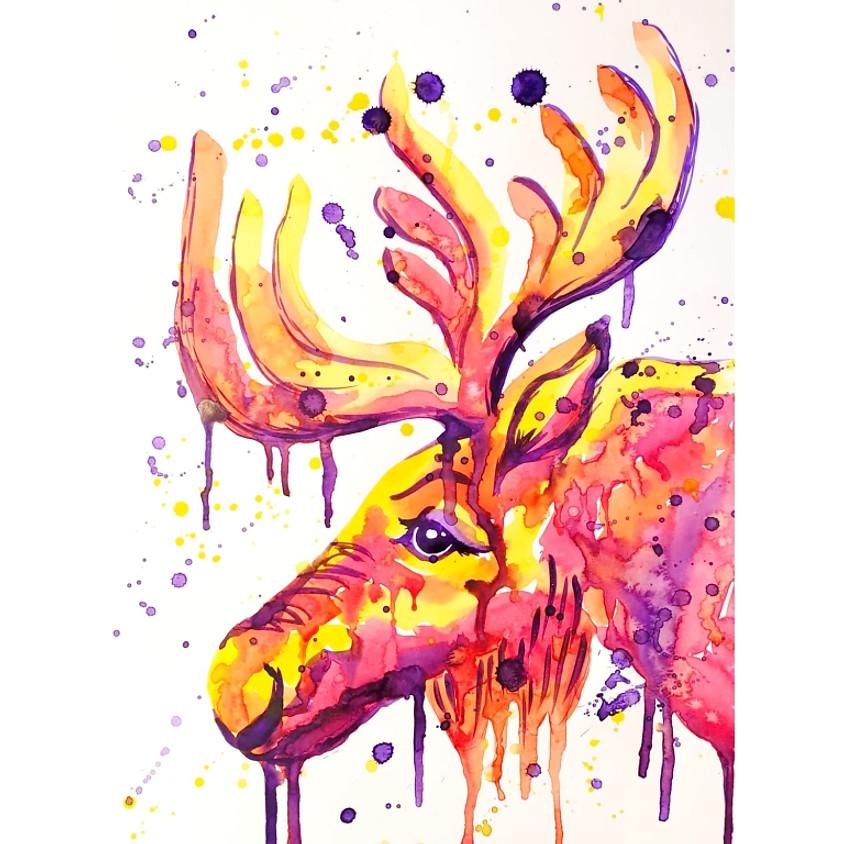 Bold Moose Watercolour