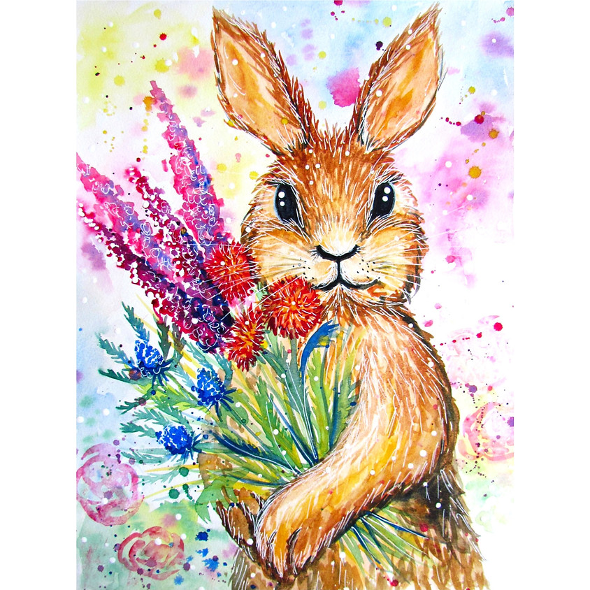 Flowers for my Honey Bunny - Watercolour