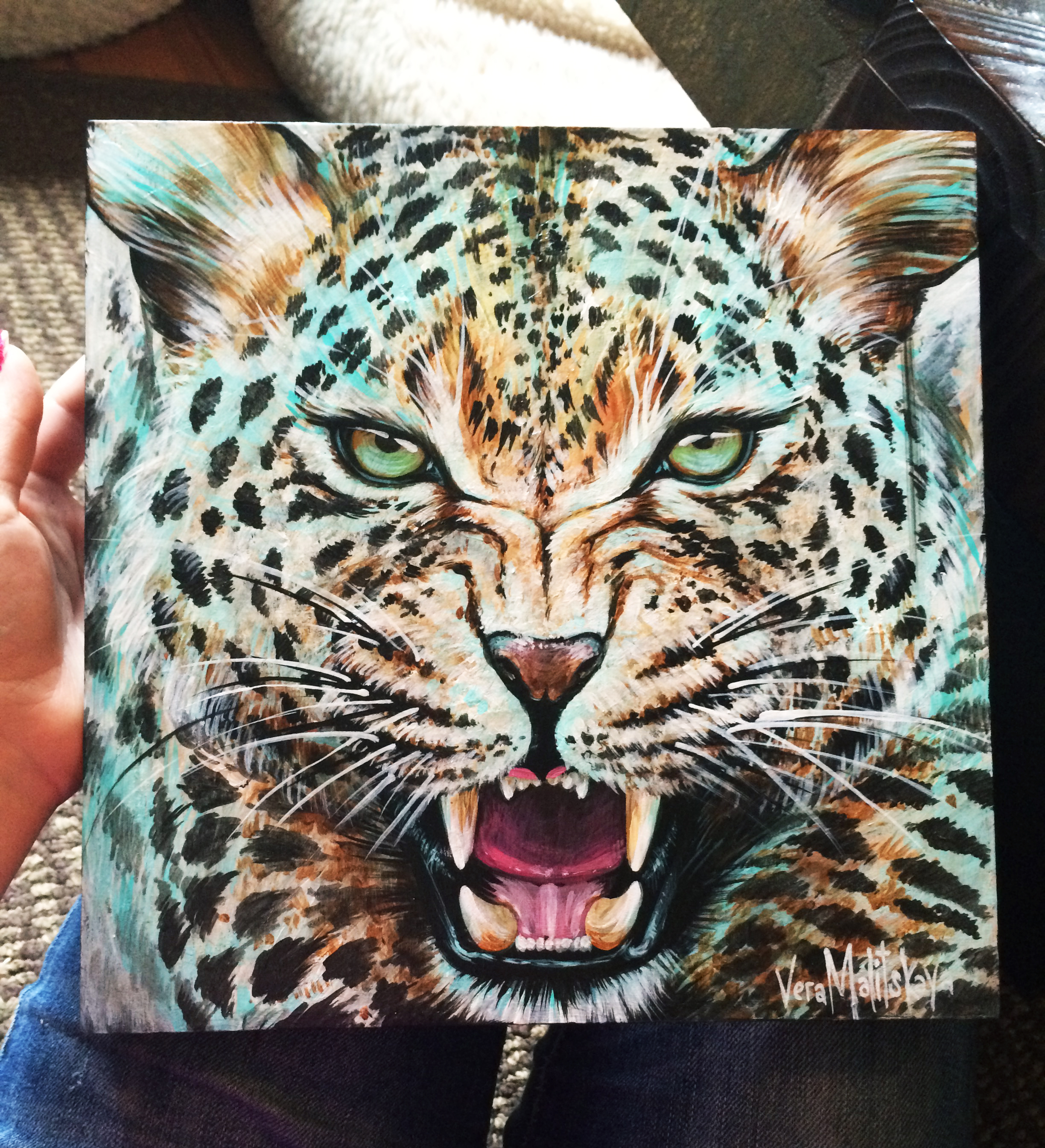 Leopard animal portrait
