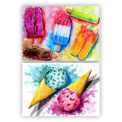 Summer Treats Watercolour - Video Recording