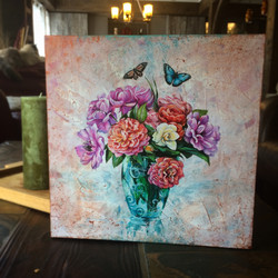Floral commission painting