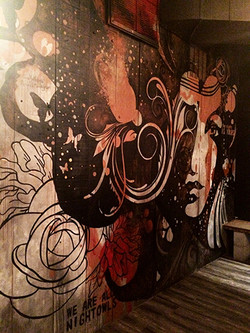 """""""Bronze"""" Wall Mural Painting"""
