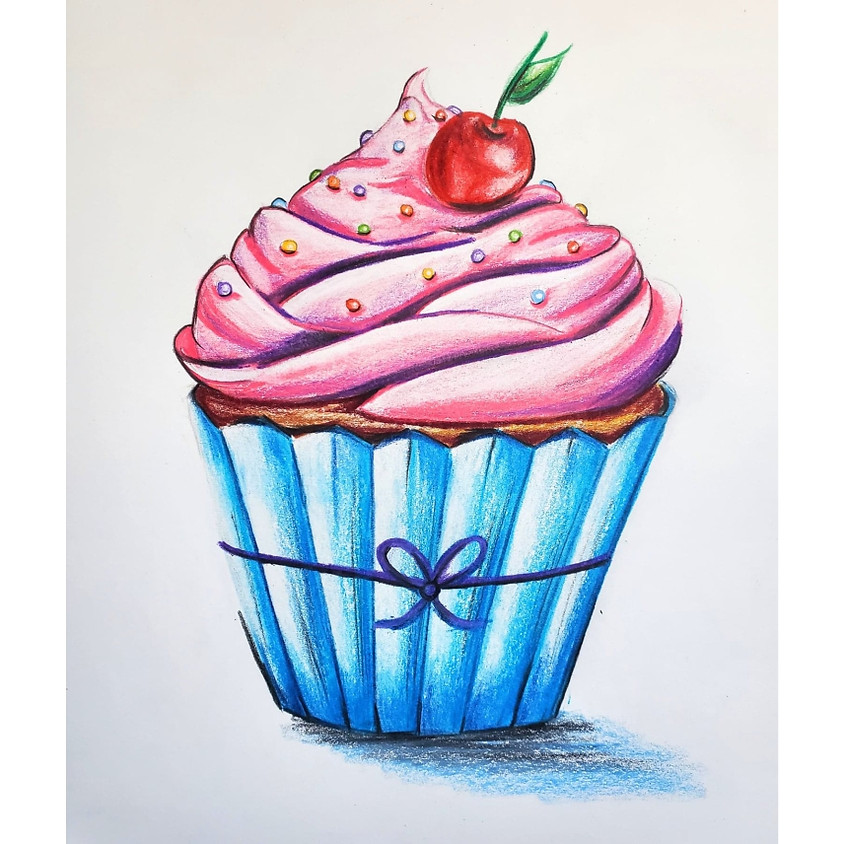 Cherry Cupcake - Drawing - ALL AGES EVENT