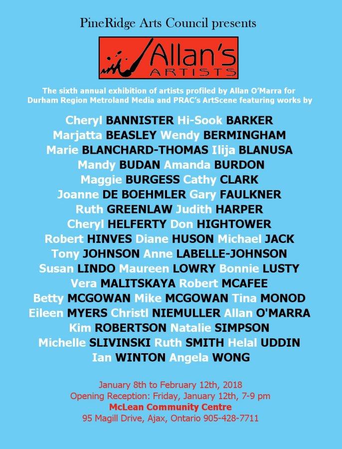 Allan's Artists 2018