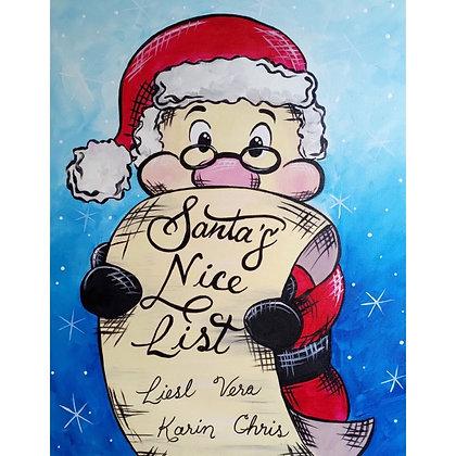 Santa's Nice List - Video Recording