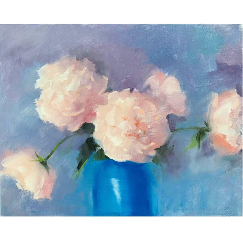 Gentle Peonies - Oil Painting