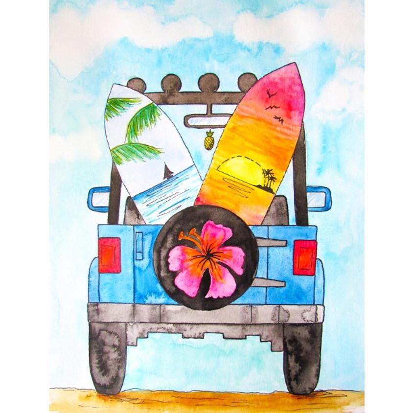 Road Trip - Watercolour