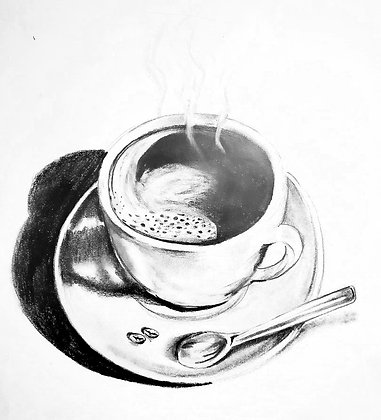 Coffee Time - HB Pencil Drawing - Video Recording