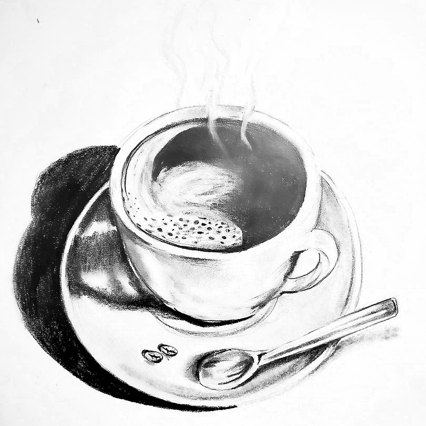 Coffee Time - HB Pencil Drawing