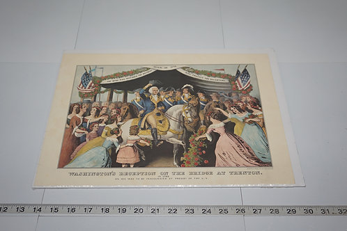 Early 1900s Print - Washington's Reception On The Bridge At