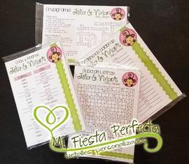 Juegos personalizados baby shower - Mona