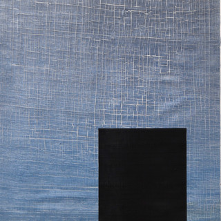 "Gianluca Cosci ""Whitewashing #39"" 2019. Oil on canvas 150 x 40 cm."