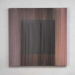 """Gianluca Cosci """"Veiled #17"""" 2020. Oil on canvas 100 x 100 cm"""