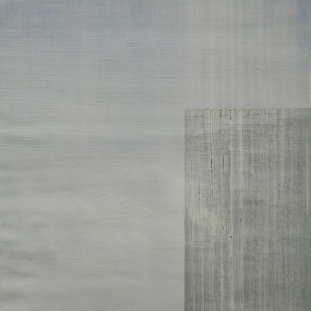 "Gianluca Cosci ""Whitewashing #7"" 2019. Oil on canvas 100 x 50 cm."