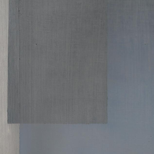 "Gianluca Cosci ""Whitewashing #22"" 2019. Oil on canvas 50 x 30 cm."