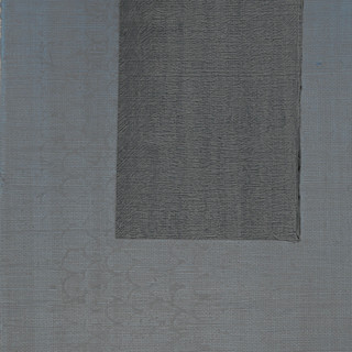 "Gianluca Cosci ""Whitewashing #10"" 2019. Oil on canvas 60 x 20 cm."