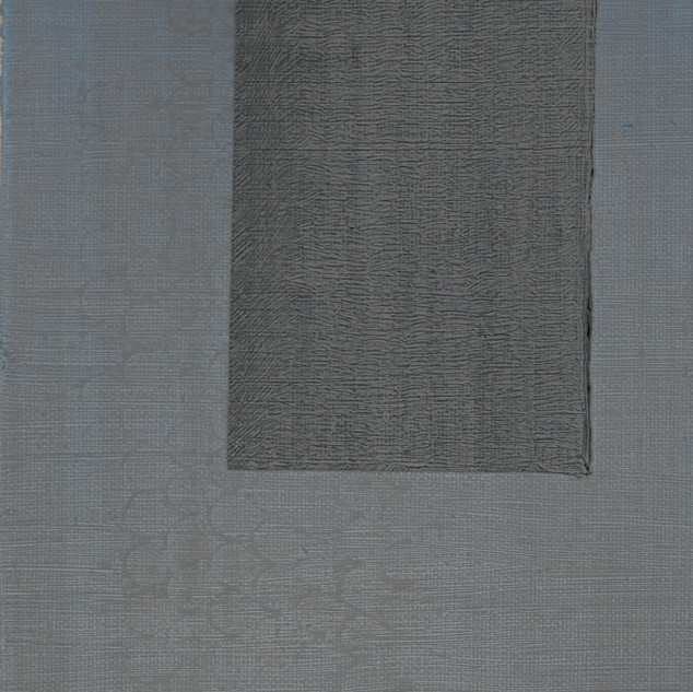 "Gianluca Cosci ""Whitewashing #23"" 2019. Oil on canvas 100 x 40 cm."
