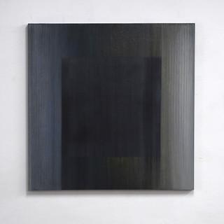 """Gianluca Cosci """"Veiled #13"""" 2020. Oil on canvas 100 x 100 cm."""