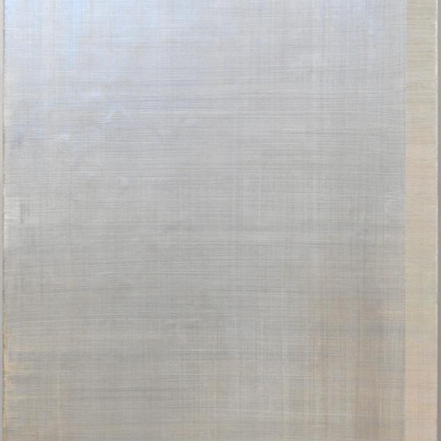 "Gianluca Cosci ""Whitewashing #1"" 2018. Oil on canvas 150 x 100 cm."