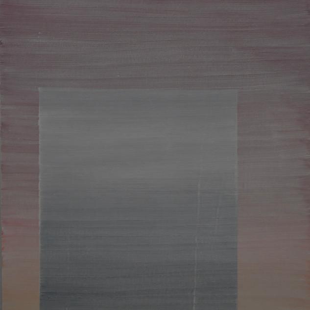 "Gianluca Cosci ""Whitewashing #16"" 2019. Oil on canvas 60 x 30 cm."