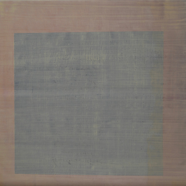 "Gianluca Cosci ""Whitewashing #15"" 2019. Oil on canvas 50 x 50 cm."