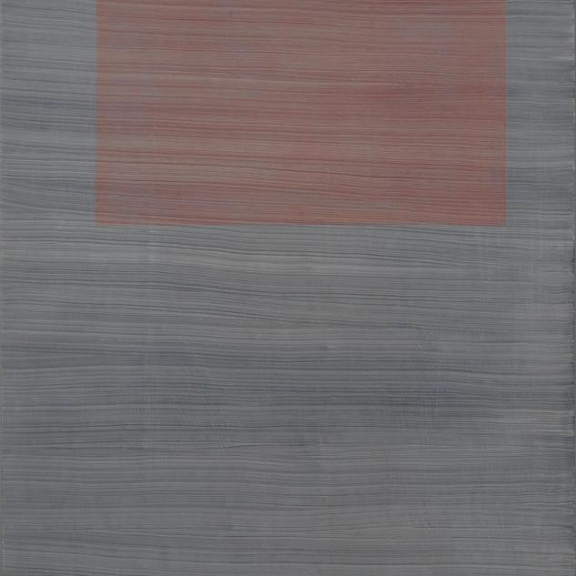 "Gianluca Cosci ""Whitewashing #32"" 2019. Oil on canvas 100 x 25 cm."