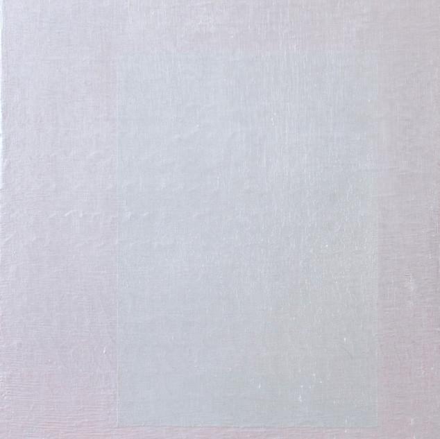 "Gianluca Cosci ""Whitewashing #3"" 2014. Oil on canvas on cardboard.  50 x 35 cm."