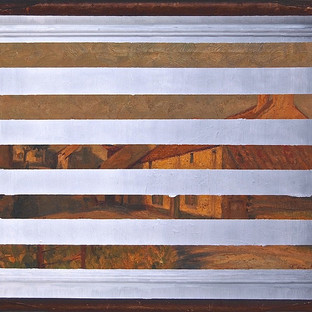 Gianluca Cosci Double Negative #4 2014 Oil on found painting 63 x 83 cm