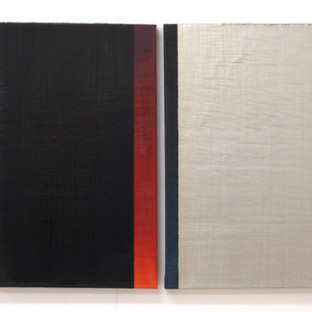 "Gianluca Cosci ""Double Negative"" 2017. Oil on canvas. Two elements 60 x 40 cm each."