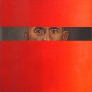 Gianluca Cosci Double Negative #2 2014 Oil on found painting 46.5 x 38.3 cm